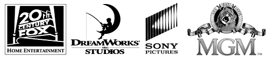 20th Century Fox, DreamWorks Studios, Sony Pictures and MGM